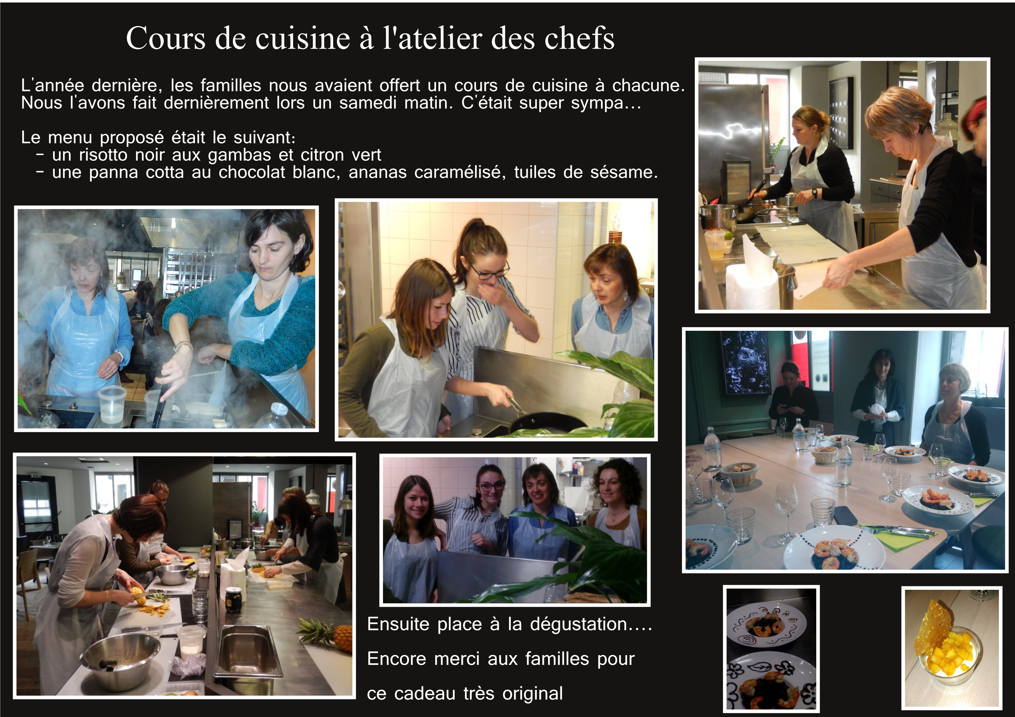 cours de cuisine l atelier des chefs multi accueil minibou nantes. Black Bedroom Furniture Sets. Home Design Ideas